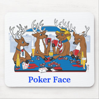 Poker Face Deer Mouse Pad