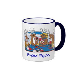 Poker Face Deer Ringer Coffee Mug