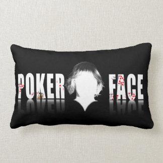 Poker Face design and logo Lumbar Pillow