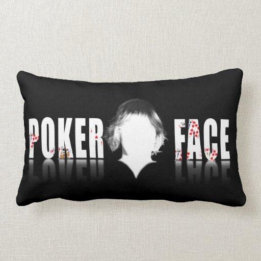 Poker Face design and logo Throw Pillow