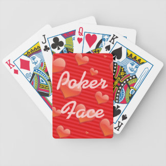 Poker Face Hearts Playing Cards