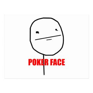 Poker face internet meme postcard