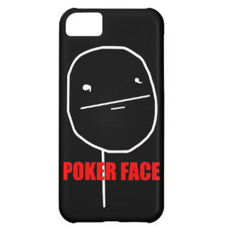 Poker Face - iPhone 5 Black Case Cover For iPhone 5C