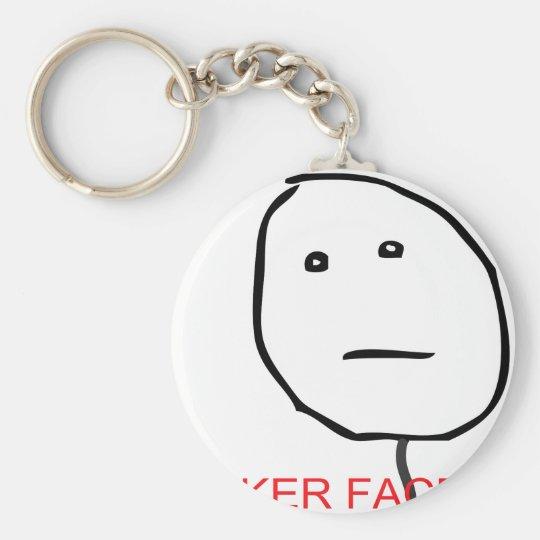 Poker Face Keychain