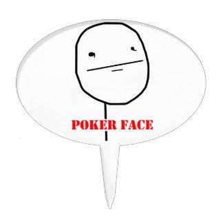 Poker face - meme cake topper
