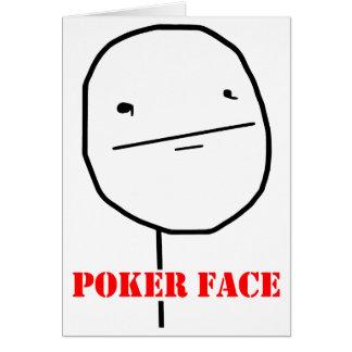 Poker face - meme card