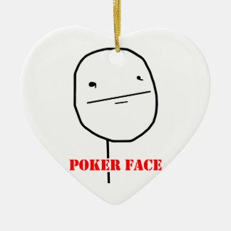 Poker face - meme ceramic ornament