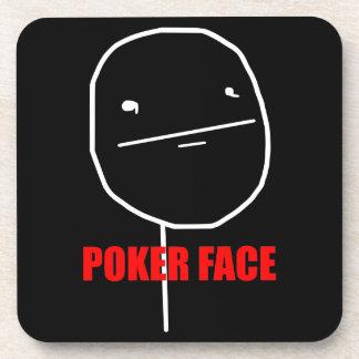 Poker Face Meme Coaster