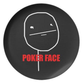 Poker Face Meme Dinner Plate