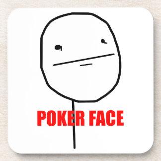 Poker Face Meme Drink Coaster