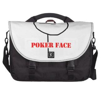 Poker face - meme commuter bags