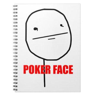 Poker Face Meme Note Books