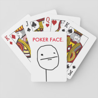 Poker Face Meme Playing Cards