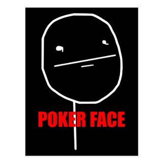 Poker Face Meme Postcard