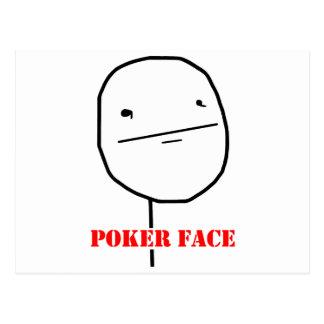 Poker face - meme postcard