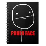 Poker Face Meme Spiral Notebooks