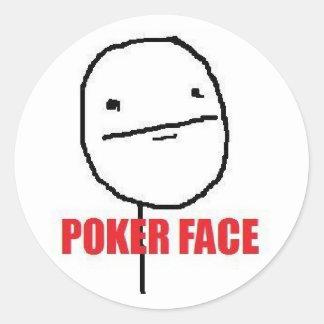 Poker Face Meme Sticker