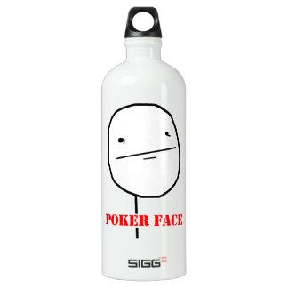 Poker face - meme water bottle