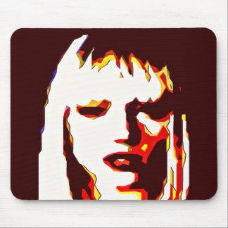 Poker Face Modern Art Mouse Pad