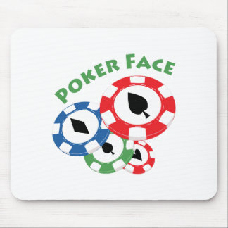 Poker Face Mousepads