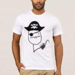 Poker Face Pirate T-Shirt