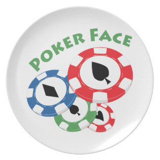Poker Face Party Plates