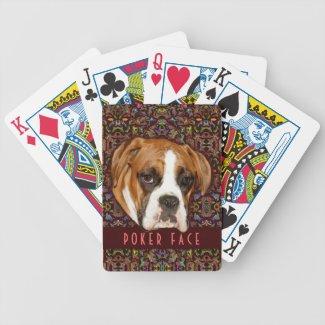POKER FACE - Poker Night Dog Playing Cards