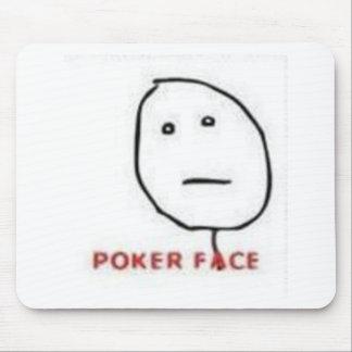 Poker Face Rage Comic Mousepads