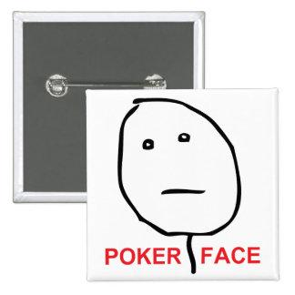Poker Face Rage Face Meme 2 Inch Square Button