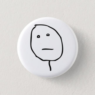 Poker face Rage Face Meme Button