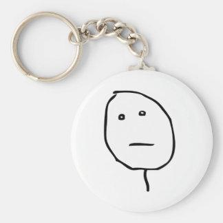 Poker Face Rage Face Meme Keychain