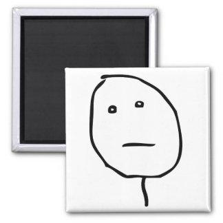 Poker Face Rage Face Meme Magnet