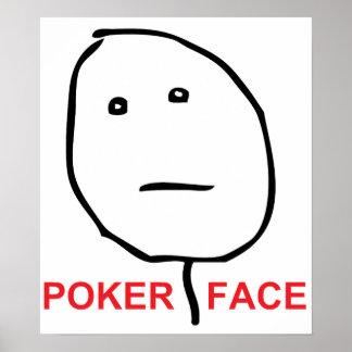 Poker Face Rage Face Meme Poster