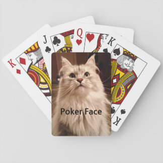 Poker Face Siberian Cat Playing Cards