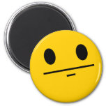 Poker Face Smiley 2 Inch Round Magnet