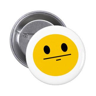 Poker Face Smiley Pinback Button