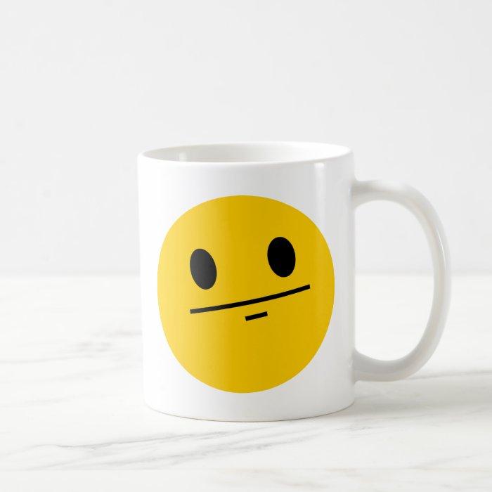 Poker Face Smiley Coffee Mug