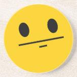 Poker Face Smiley face Beverage Coaster