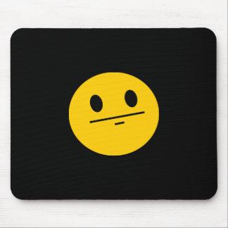 Poker Face Smiley face Mousepads