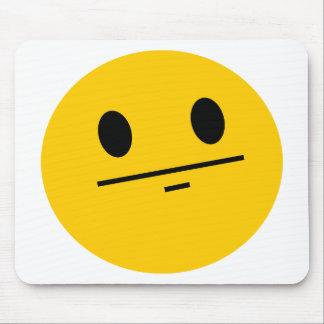 Poker Face Smiley Mousepads