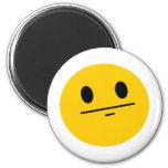 Poker Face Smiley Refrigerator Magnet
