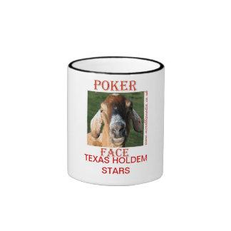 POKER FACE TEXAS HOLDEM STARS MUGS