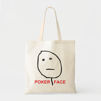 Poker Face (text) Budget Tote Bag