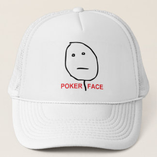 Poker Face (text) Trucker Hat