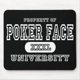 Poker Face University Dark Mouse Pad