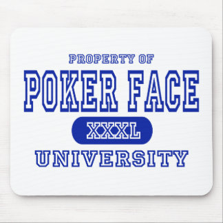 Poker Face University Mouse Mat