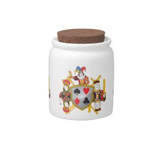 Poker Family Crest Candy Jar