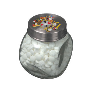 Poker Family Crest Jelly Belly Candy Jars