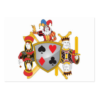 Poker Family Crest Large Business Card
