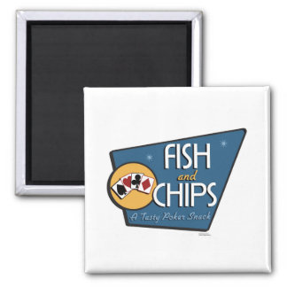 Poker - Fish & Chips Magnet